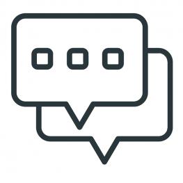 Icon zwei Sprechblasen
