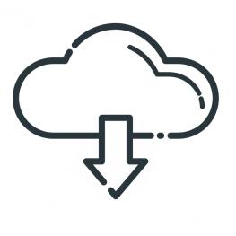 Icon Wolke und Download.