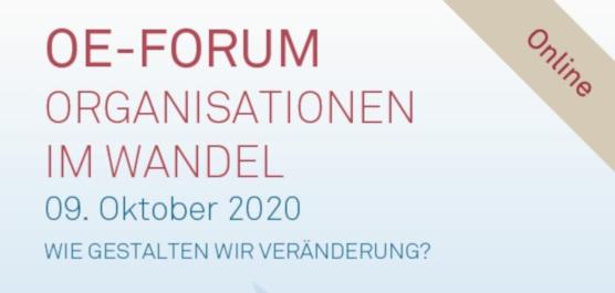 Veranstaltungsbild OE-FORUM Organisationen im Wandel