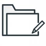 Icon, das Karteikarten zeigt.