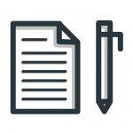 Icons die Stift und Paier zeigen.
